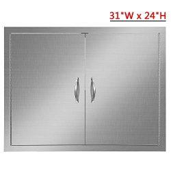Weanas Double Wall Access Door Outdoor Kitchen BBQ Access Door 31″x 24″with 304Grad ...