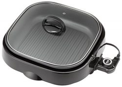 Aroma Housewares ASP-218B 3-in-1 Grillet Indoor Grill, 4-Quart, Black
