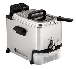 T-fal Deep Fryer with Basket, Stainless Steel, Easy to Clean Deep Fryer, Oil Filtration, 2.6-Pou ...