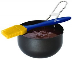 Corona Basting Brush and Sauce Pot Set – 2 Piece BBQ Grilling Silicone Basting Brush And S ...