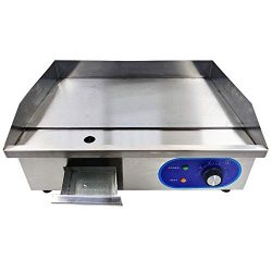 DULONG Commercial Electric Griddle Flat Top Grill HotPlate Kitchen Countertop Grill with Adjusta ...