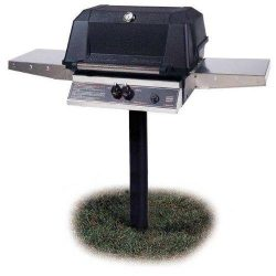 Mhp Gas Grills Wnk4dd Natural Gas Grill W/ Searmagic Grids On In-ground Post