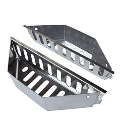Stainless Steel Charcoal Basket- BBQ Grilling Accessories for Grills and 22″ Kettles- Heav ...