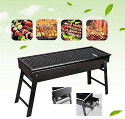 BBQ Grill,Portable BBQ Charcoal Grill Foldable BBQ Tool Kits,Charcoal Barbecue Grill Smoker Gril ...