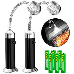 Barbecue Grill Light [Magnetic Base], UBEGOOD Grill Lights for BBQ with Super Bright LED Lights, ...