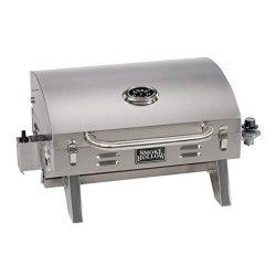 Smoke Hollow 205 Stainless Steel TableTop Propane Gas Grill, Perfect for tailgating,camping or a ...
