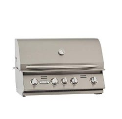Bullet 86329 4-Burner Built (NG) Grill Head, Stainless Steel