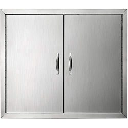 Mophorn Outdoor Kitchen Access Door 26″x 24″ Double Wall Construction Stainless Stee ...