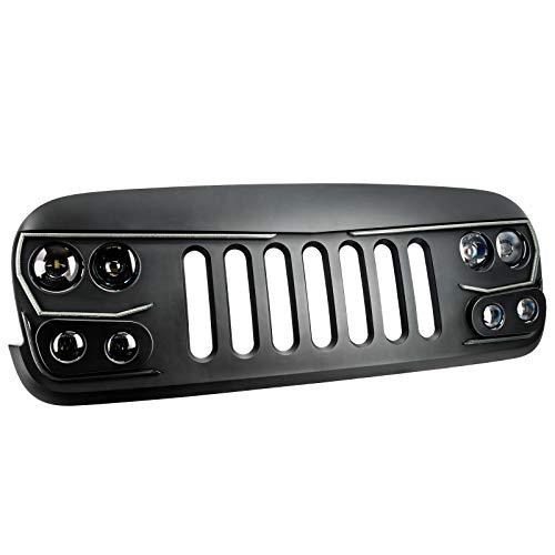 ORACLE Lighting VECTOR Series Full LED Grill – LED Enhancement for Jeep Wrangler JK Grill  ...