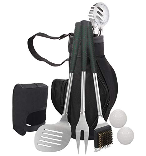 Grilljoy 8pcs Heavy Duty BBQ Grill Tools set.Extra Thick Stainless Steel Spatula,Fork,Tongs & ...