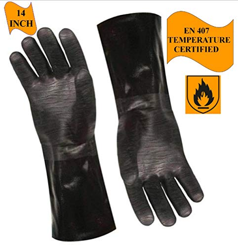 Artisan Griller BBQ Heat Resistant Insulated Smoker, Grill, Fryer, Oven, Brewing, Cooking Gloves ...