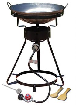 King Kooker 24WC Heavy-Duty 24-Inch Portable Propane Outdoor Cooker with 18-Inch Steel Wok (Renewed)
