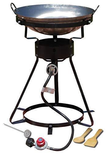 King Kooker 24WC Heavy-Duty 24-Inch Portable Propane Outdoor Cooker with 18-Inch Steel Wok (Renewed)
