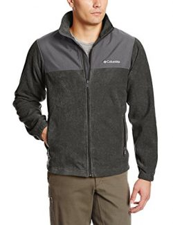 Columbia Men's Steens Mountain Tech II Full Zip, Charcoal Heather/Grill, Medium