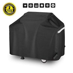 Utheer 60 Inch Width Heavy Duty Waterproof Gas Grill Cover, Fade Resistant BBQ Cover for Collaps ...
