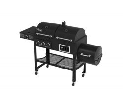 Smoke Hollow 3500 4-in-1 Combination 3-Burner Gas Grill with Side Burner, Charcoal Grill and Smo ...