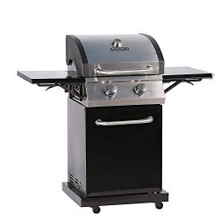 MASTER COOK 2-Burner Cabinet Liquid Propane Gas Grill- Stainless Steel 32000BTU 312 sq.in. Cooki ...
