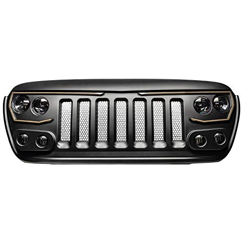 ORACLE Lighting VECTOR Series Full LED Grill – LED Enhancement for Jeep Wrangler JL and Je ...