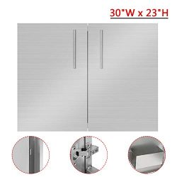 EOSAGA Outdoor Kitchen Doors BBQ Access Door 30″ W x 23″ H with 304 Grade Stainless  ...