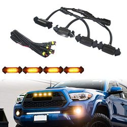 TurningMax Smoked Lens Amber LED Front Grille Lighting Kit For 2016-up Toyota Tacoma w/TRD Pro Grill