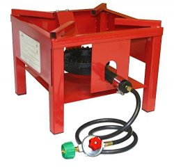 Martin Portable Outdoor Propane Burner Cooker Stand Regulator 4′ Hose 65,000 BTU/Hour