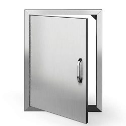 TUSY BBQ Access Doors 20 x 14 Inches Brushed Outdoor Kitchen Stainless Steel Door Island or Gril ...
