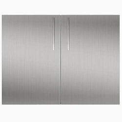 YXHARD Outdoor Kitchen Door,304 Brushed Stainless Steel 36″ Wx 23.5″ H Double BBQ Ac ...