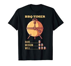 Barbecue Timer I Beer Mug BBQ Sauce Electric Grill Gift T-Shirt