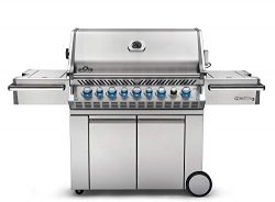 Napoleon PRO665RSIBNSS-3 Burners Prestige PRO 665 Natural Gas Grill with Infrared Rear and Side  ...