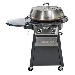 Cuisinart CGG-888 Grill Stainless Steel Lid 22-Inch Round Outdoor Flat Top Gas, 360° Griddle Coo ...