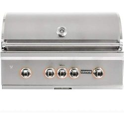 Coyote S-Series 36-Inch 4-Burner Built-in Natural Gas Grill with RapidSear Infrared Burner & ...