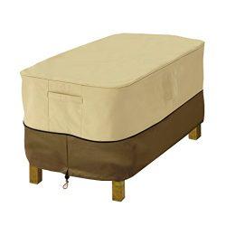 Classic Accessories Veranda Rectangular Patio Ottoman/Side Table Cover, Small