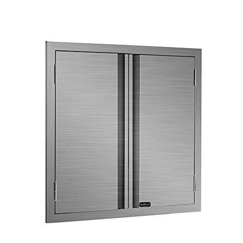 BI-DTOOL Double BBQ Access Door 304 Brushed Stainless Steel BBQ Island Doors for Outdoor Kitchen ...