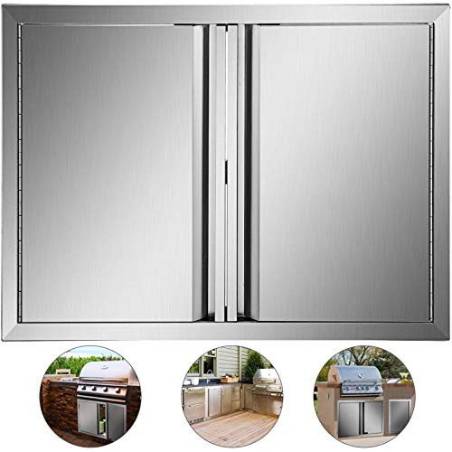 Mophorn Outdoor Kitchen Doors 30.5 x 21 Inch BBQ Access Door 304 Brushed Stainless Steel BBQ Doo ...