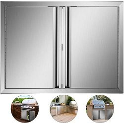 Mophorn Outdoor Kitchen Doors 28 x 19 Inch BBQ Access Door 304 Brushed Stainless Steel BBQ Door  ...