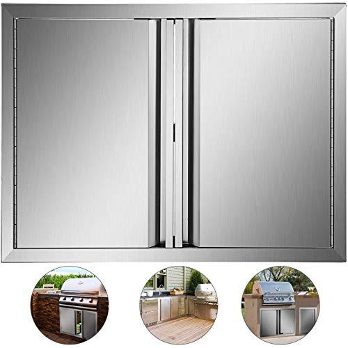 Mophorn Outdoor Kitchen Doors 28 x 19 Inch BBQ Access Door 304 Brushed Stainless Steel BBQ Door  ...