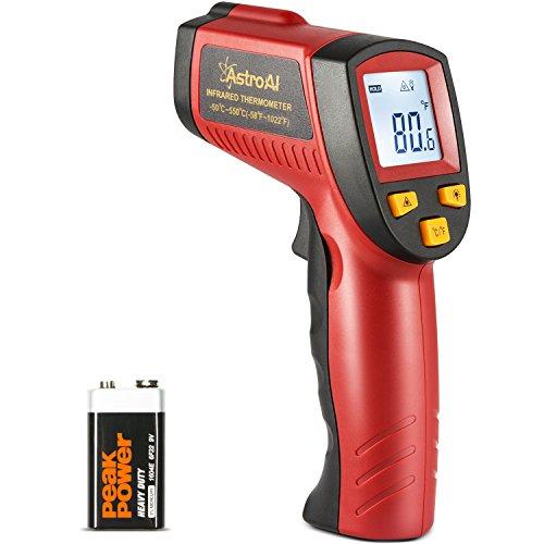 AstroAI Digital Laser Infrared Thermometer, 550 Non-contact Temperature Gun with Range of -58℉~1 ...