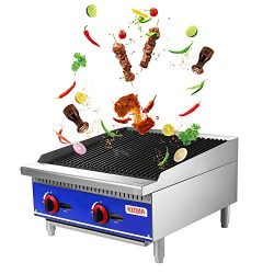 Grill and 24″ Natural Gas Countertop Charbroiler – KITMA Commercial Radiant Charbroi ...