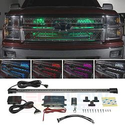 LEDGlow Million Color LED Grille Accent Neon Lighting Kit for Cars & Trucks – 18 Solid ...