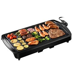 Electric Griddle, IKICH Electric Grill Indoor 2-in-1 Pancake Griddle 16.73″x 8.94″Gr ...