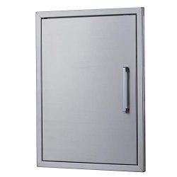yuxiangBBQ BBQ Island Doors Stainless Steel,20″ by 27″ Vertical Single Door Reversib ...