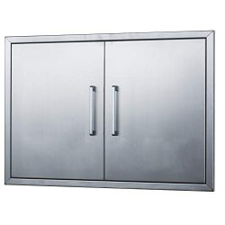 Outdoor Kitchen Doors Stainless Steel,33″ Double Access Door,Flush Mount for Outdoor Kitch ...