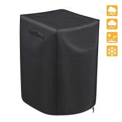iCOVER 30 Inch Electric Smoker Cover Square, Weather-Resistant Polyester for Outdoor Use, Fits M ...