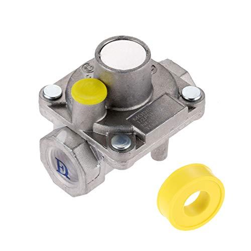 Aupoko 3/8″ Gas Regulator, Natural Gas Grill Low Pressure Regulator, 3/8″ -18 NPT Na ...