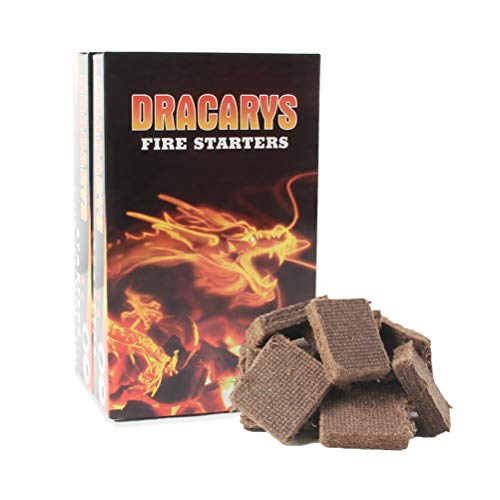 60pcs Natural Fire Starter Squares for Big Green Egg,Fire Charcoal Starter Cubes For Barbecue Gr ...