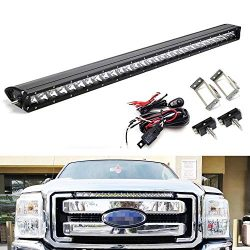iJDMTOY Upper Grille Mount 30-Inch LED Light Bar Compatible With 2011-2016 Ford F250 F350 Super  ...
