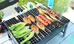 ColourTree Portable Folding Simple Barbecue BBQ Charcoal Grill Black – Lightweight, Foldab ...