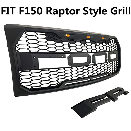 Compatible For F150 2009 2010 2011 2012 2013 2014 Raptor Style Grill,Front Grille for f150 with ...