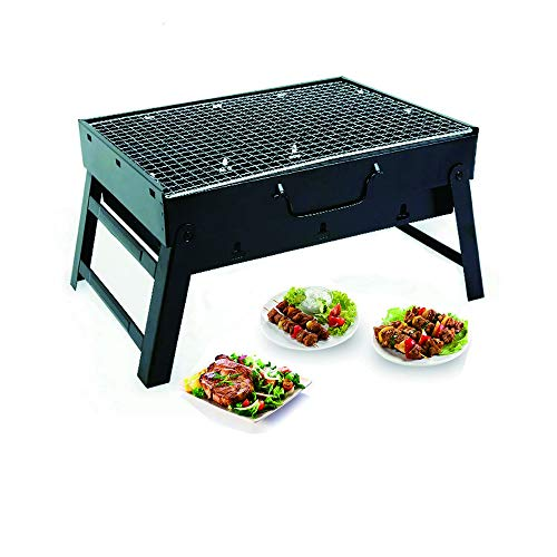 Happy reunion Folding BBQ Barbecue 13.78″ Portable Charcole Grill Stainless Folding Charco ...