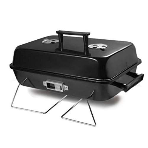 ISUMER Portable Charcoal Barbecue Grill – Tabletop Outdoor BBQ Cooking Charcoal Grill Barb ...